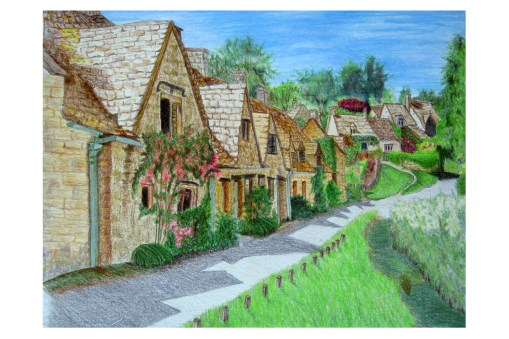 "Southern English Village 8""x 10"""