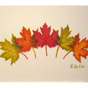 Oak Leaves 5″x 7″