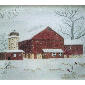 Winter on the Farm 8″x 10″