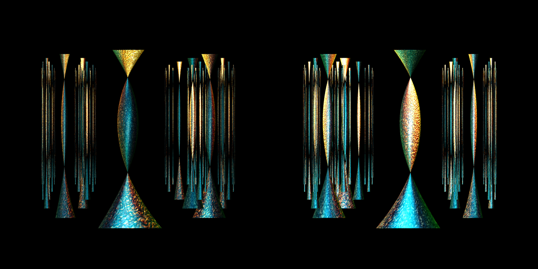 "The Hollow Men I 24""x12"" Dye Sublimation on Aluminum Copyright 2016 Wm. J. Lee"