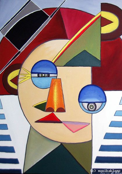 Frida Kahlo Moderne Kunst Portrait Abstrakte Malerei Moderne