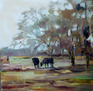 "When the Cows Come Home Oil on Linen 1.5"" deep gallery wrap"