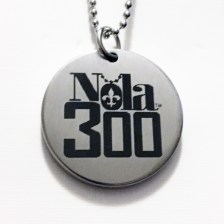 SS Silver etched Nola 300 pendant