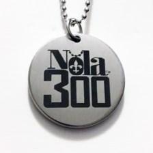 SS Silver etched Nola 300 pendant