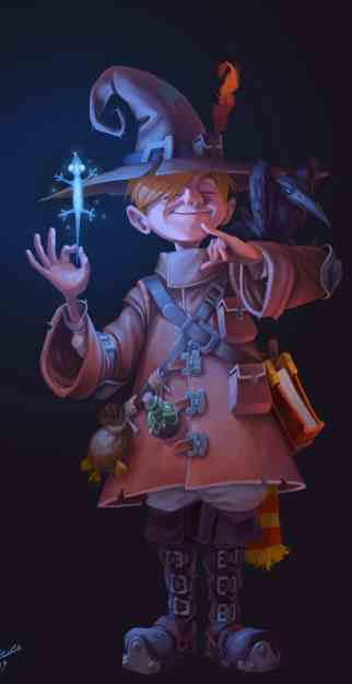 Roy shtoyer young wizard wiz concept art digital art artist