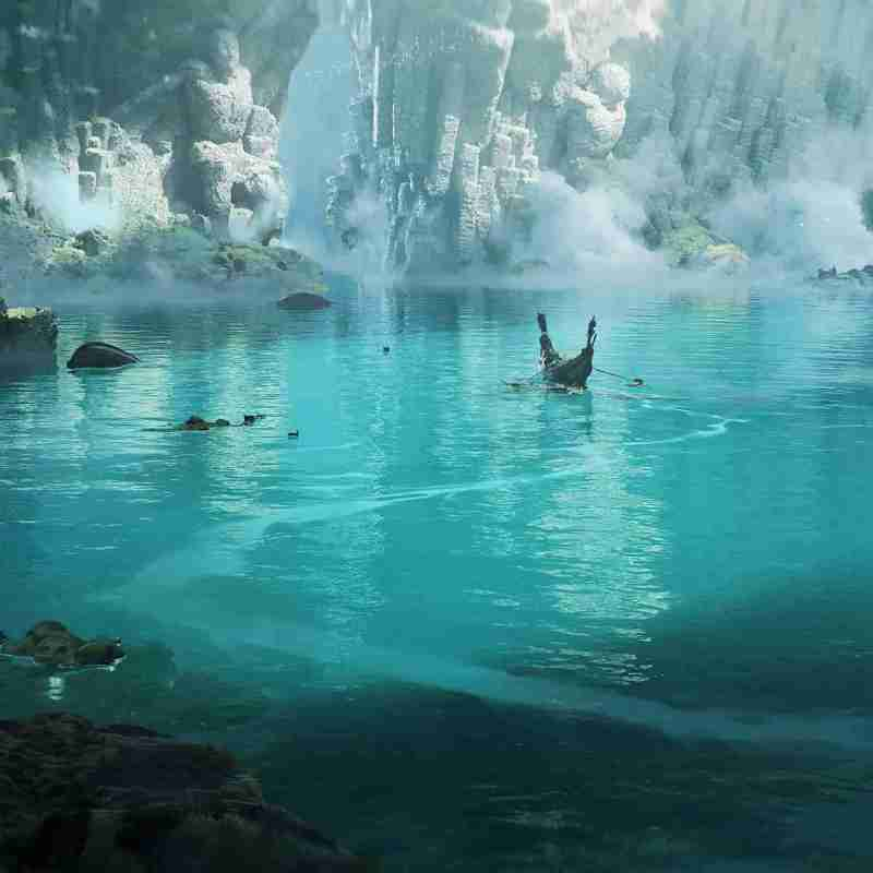 Max Schiller to claim his place water blue illustration concept art