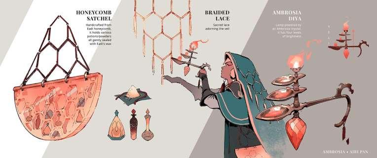 Airi Pan ambrosia concept design art illustration honey magic princess