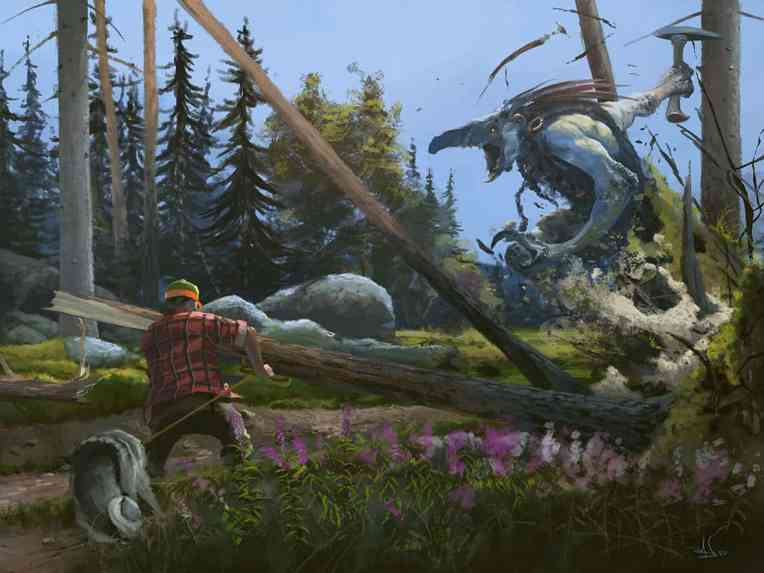 Magnus Fallgren Illustration Norse mythology folklore forests troll