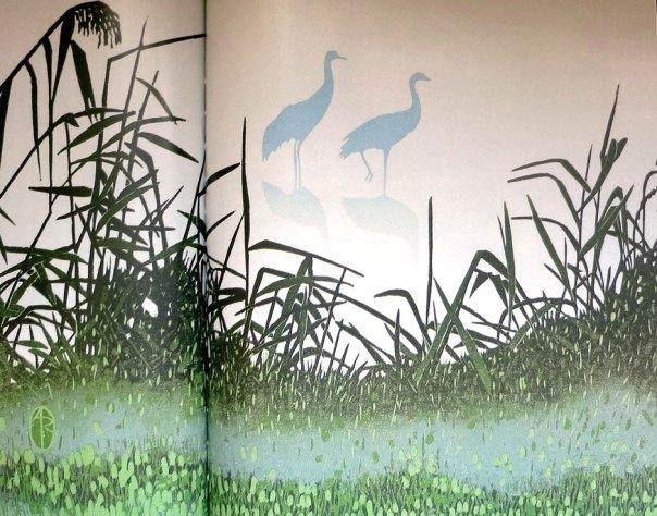 Andrea Rich - Cranes in Mist