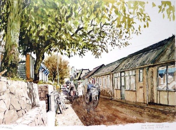 Denis Clavreul - Sark village the avenue