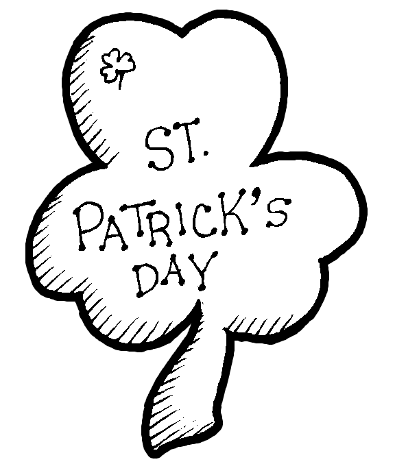 printable shamrock coloring pages