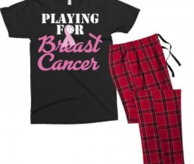 Playing For Breast Cancer Mens T Shirt Pajama Set
