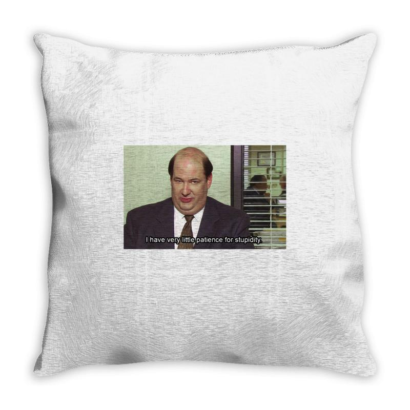 kevin malone the office throw pillow by artistshot