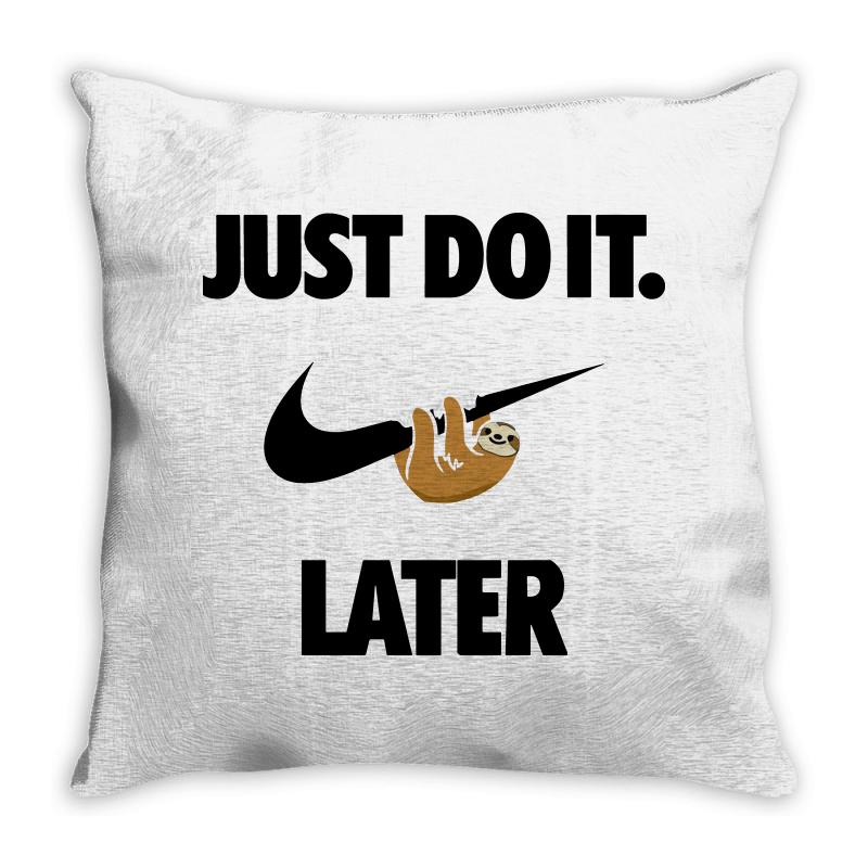 do it sloth throw pillow by artistshot