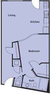 1 Bed / 1 Bath / 663 sq ft / Rent: Please Call