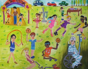 "The Tears of a Health Festival MinJi Chung, 5th grade, Irvine, CA, ""The Tears of a Health Festival"" from Korean Health Center"