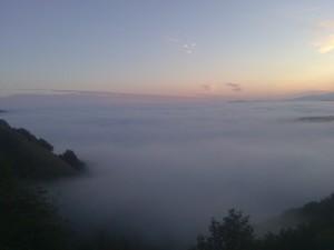 The full image of Heather's sunrise on El Camino