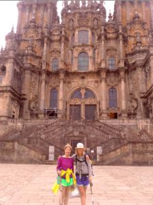 Heather and her mum walking El Camino