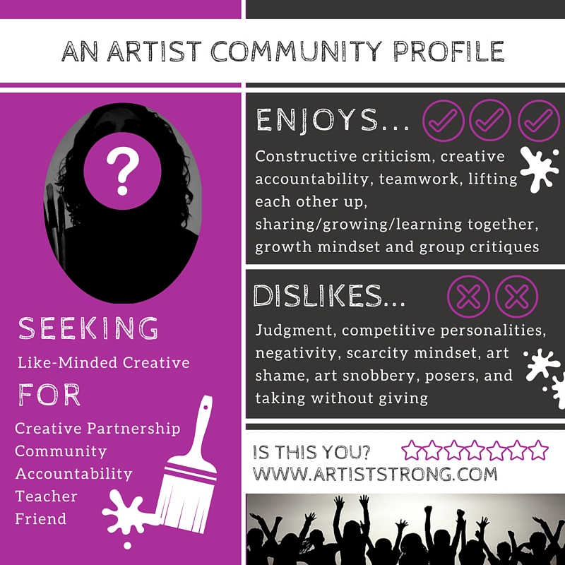 Sometimes it feels like finding artists to connect with is like posting a want ad, or going on a dating website.