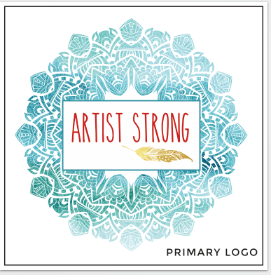 New logo for new brand and community: Artist Strong