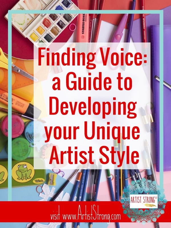 artist style, artist voice, art resources, free art lessons, online art lesson