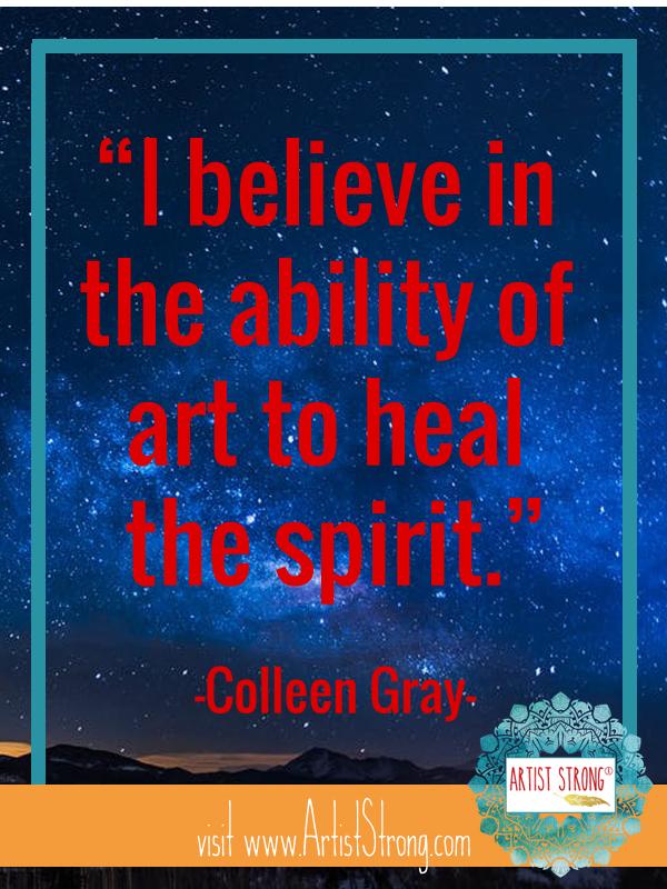 artist interview, art healing, art activities, free art resources
