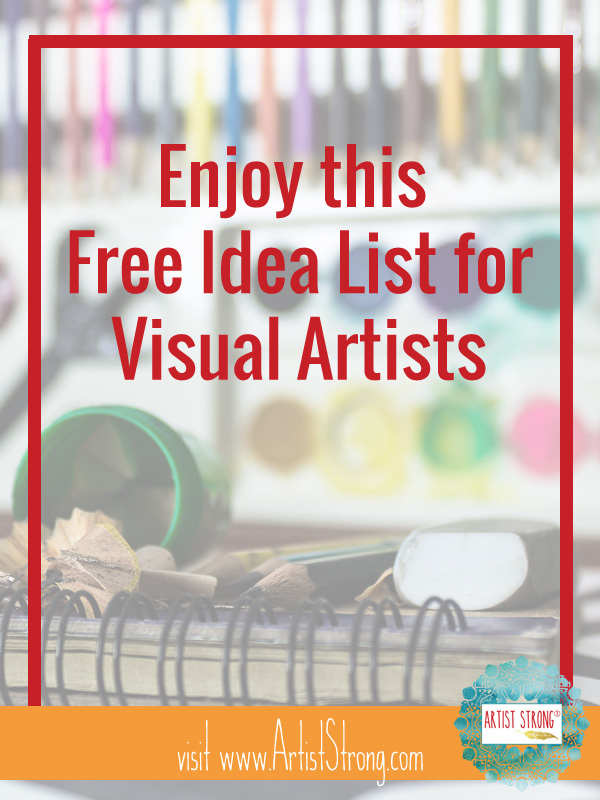 A lot of artists hold onto their ideas secretly, worried someone will take them. Today I'm sharing all my ideas for you to use as you please. Enjoy art ideas for drawing, art ideas for painting, and other art ideas to help you create unique art. #mixedmediaart #fiberart #artideas