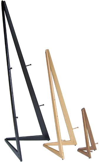 Bifold Black Oak Wooden Easel: 6' Height