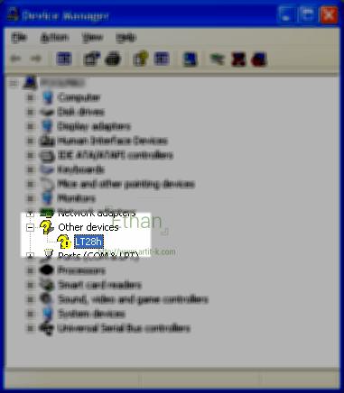 Xperia Ion เมื่อเชื่อมต่อ Windows XP ก่อนติดตั้ง WMP11
