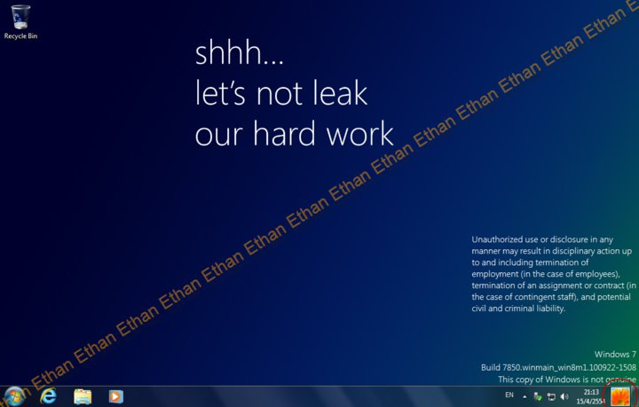 Windows 8 Milestone 1 1