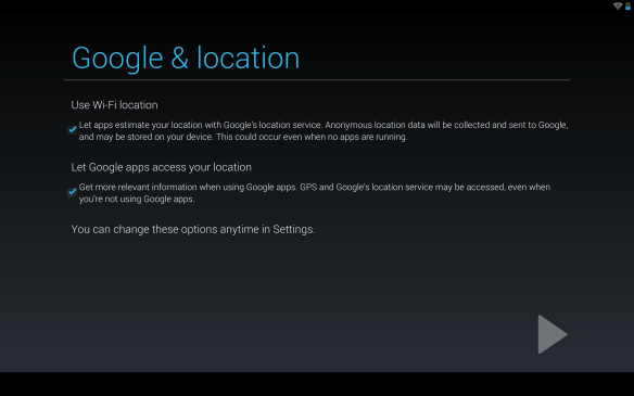 Nexus 10 Location service