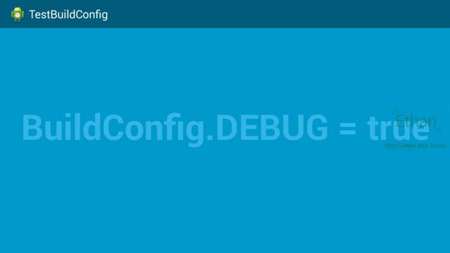 ค่า BuildConfig.DEBUG เมื่อ Run ทดสอบ