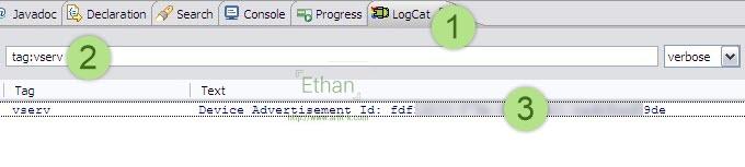 หาค่า Device ID จาก LogCat