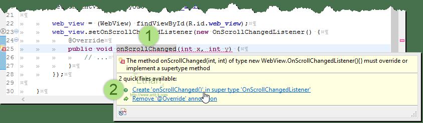 ตัวเลือก Create ช่วยสร้าง Code ให้