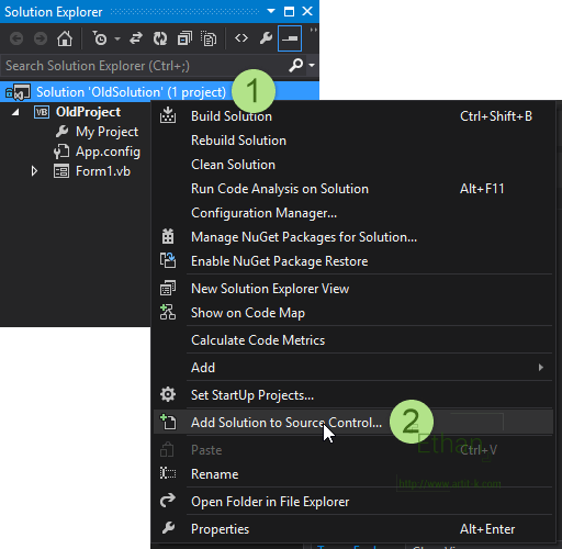 Version Control for Visual Studio 2013 with Git