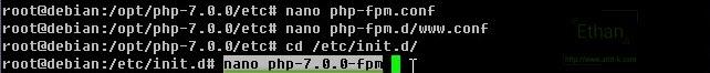 สร้างไฟล์ php-7.0.0-fpm