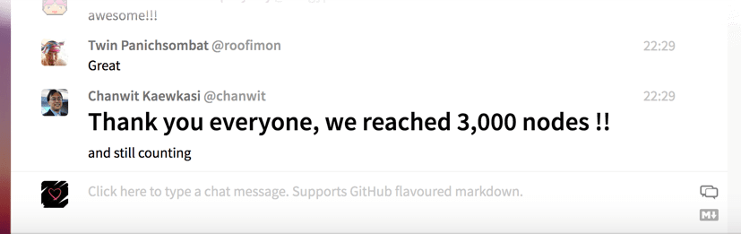 3,000 nodes joined