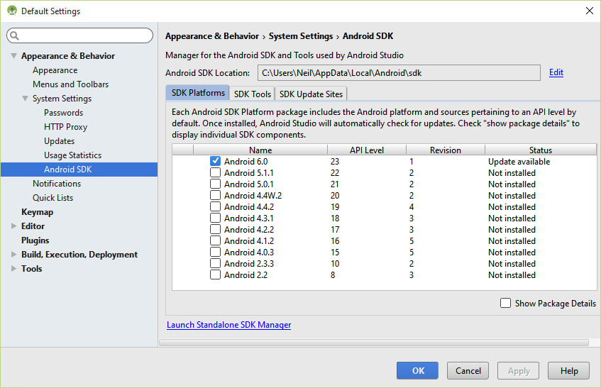 Android Studio เดิม