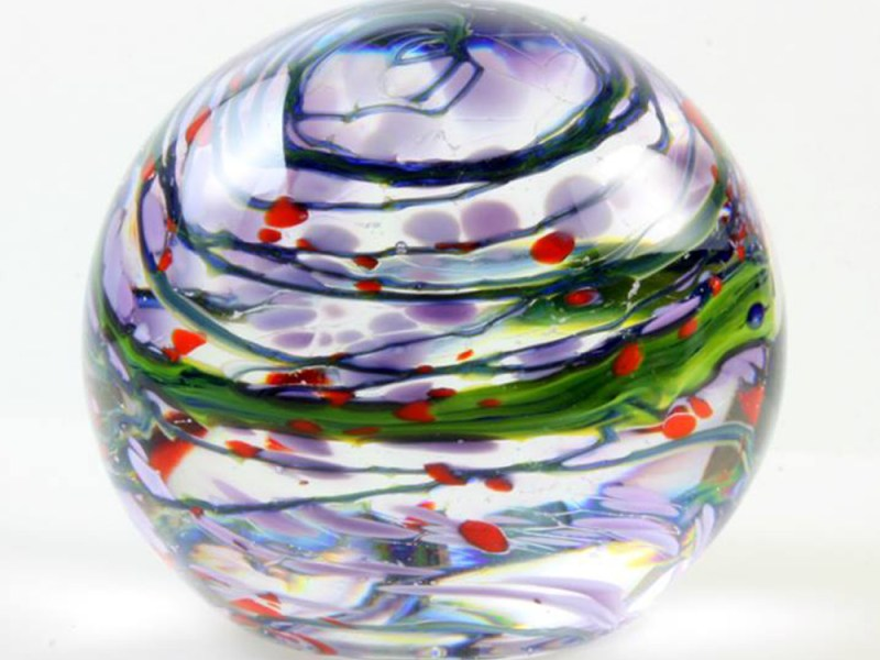 Elliott Glass Art paperweight