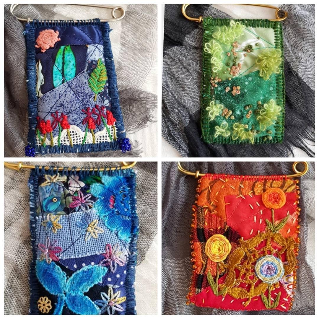 Claudia Jäggi , Embroidered textile pins
