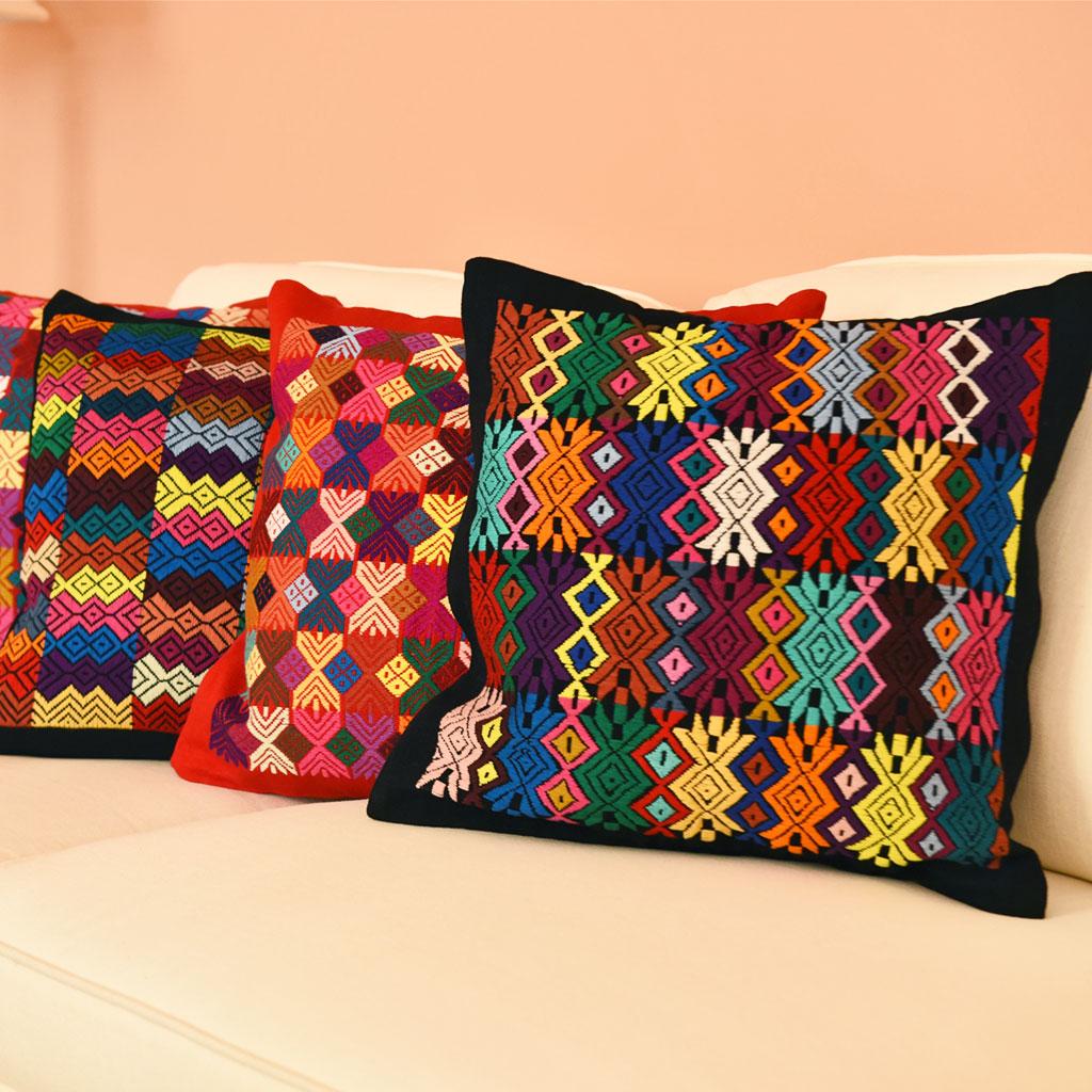 MayaMam Weavers Handwoven Brocade Pillows