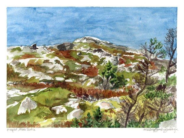 Watercolors from Nova Scotia