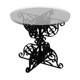 iron glass table 3d object free