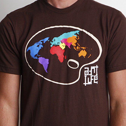 Paint the World Tee Detail Brown