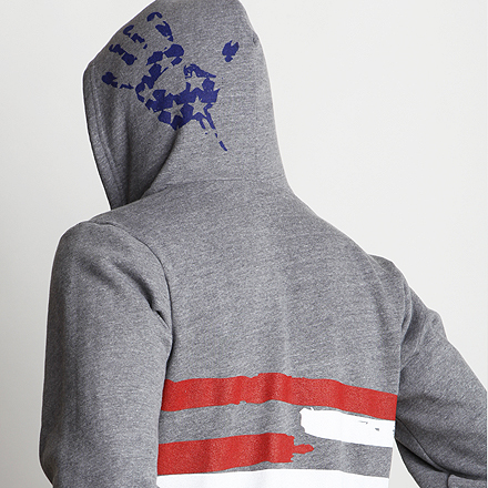 Freedom Hoodie Detail Dark Heather