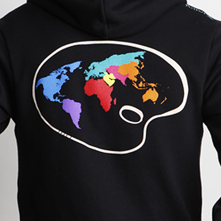 Paint the World Hoodie Back Detail Black