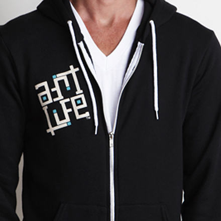 Paint the World Hoodie Detail Black