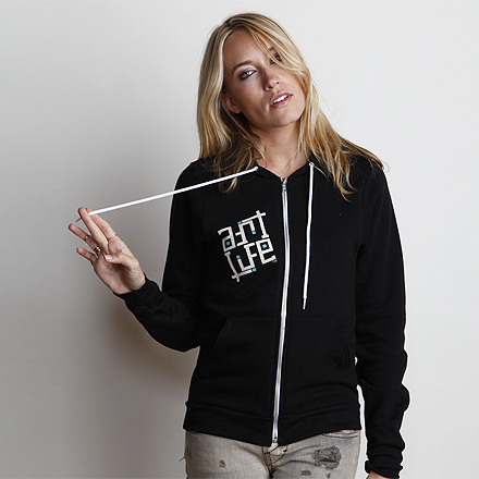 Paint the World Womens Hoodie Black