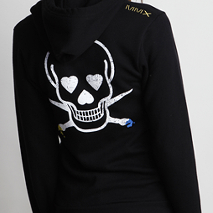 Skullmate Womens Hoodie Black Detail Back 2