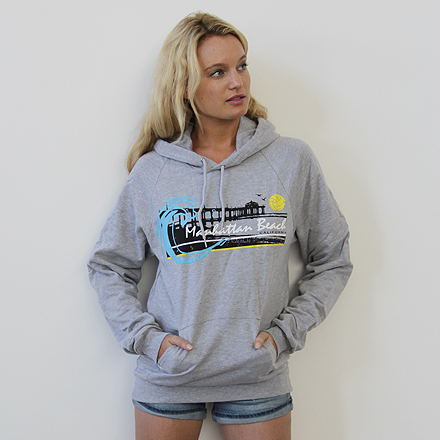Manhattan Beach Heather Grey Hoodie